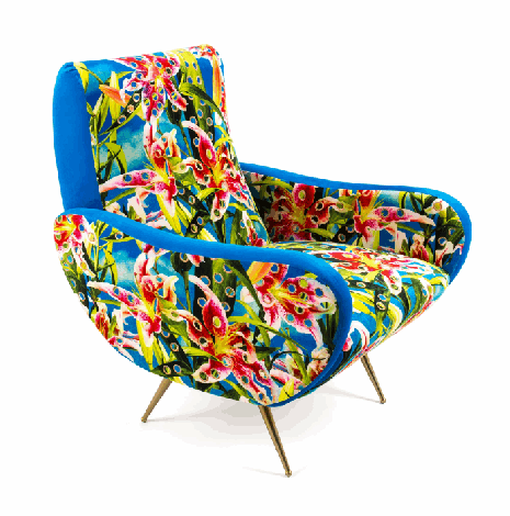 Poltrona Flowers with holes Seletti armchair dx