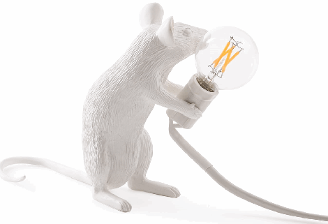 MOUSE LAMP SITTING, SELETTI